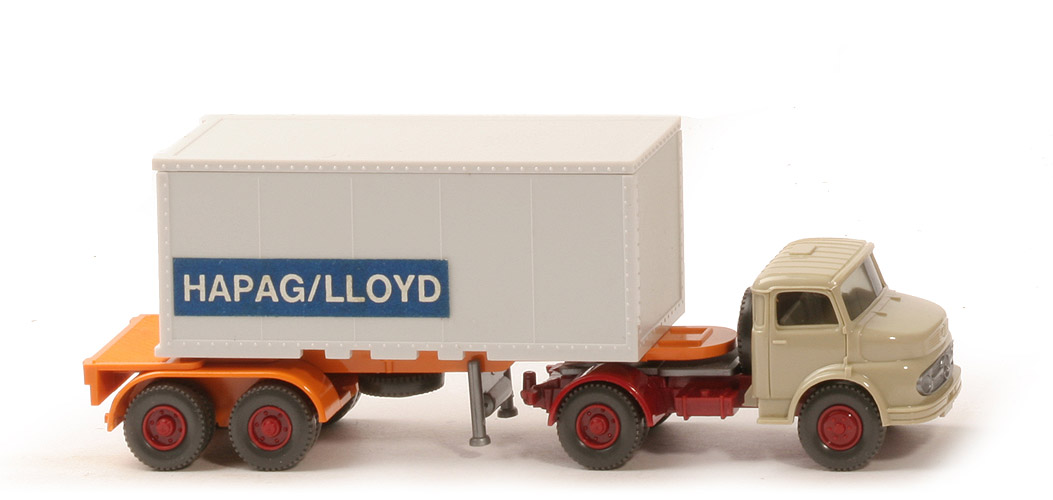 MB LS 1413 Container-Sattelzug 20ft - Hapag/Lloyd Glattwand-Container m. Aufkleber - Hapag/Lloyd (1413) ?