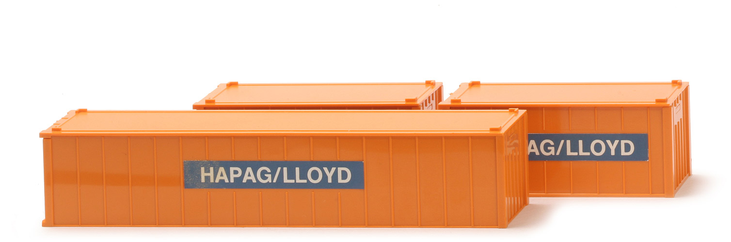 Container-Packung (Typ 1) - HAPAG-LLOYD, Beschriftung montiert - 528/3a